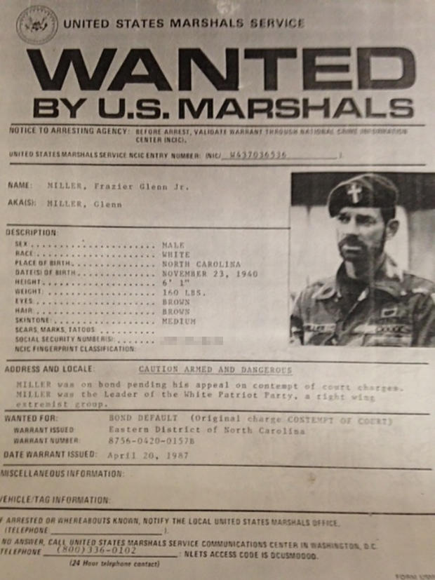 miller wanted poster