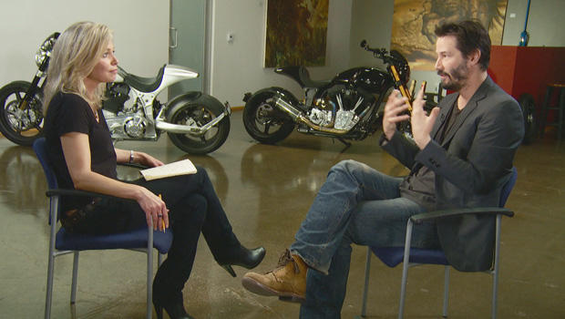 keanu reeves a love of speed cbs news. Black Bedroom Furniture Sets. Home Design Ideas