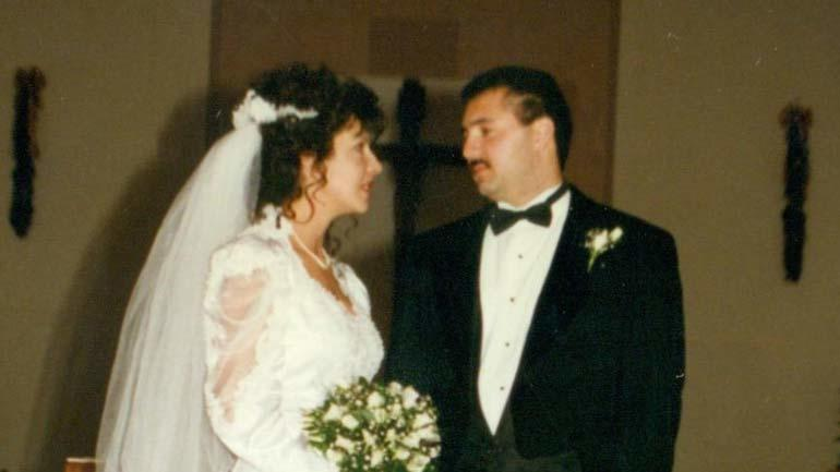 Julie and Art Gonzales on their wedding day
