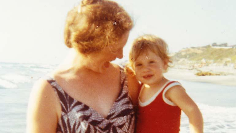 Penny and Claire Hough at Torrey Pines Beach
