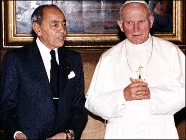 Pope King of The World King Hassan ii Pope And