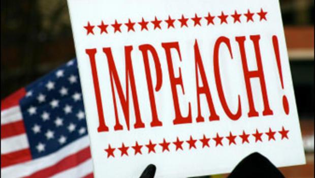 "Vendor Arrested For ""Impeach Him"" Buttons - CBS News"