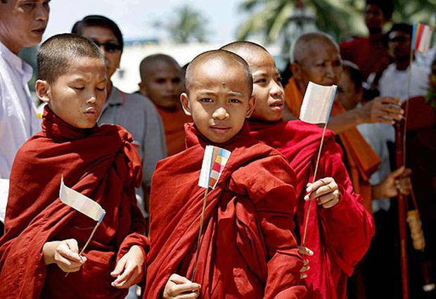 Myanmar Monks March
