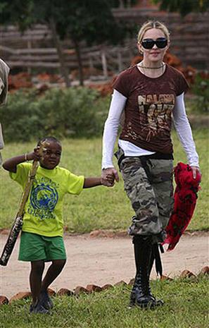 Madonna Back In Malawi