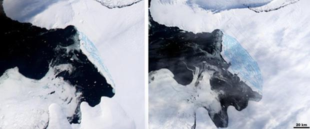 Antarctic Ice Shelf Collapses