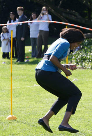 First Lady Hula Hoops for Health