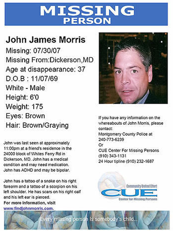 Missing: John Morris, Jr. of Dickerson, Md.