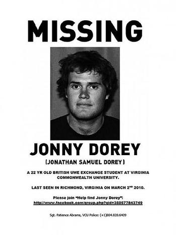 Jonny Dorey Missing in Virginia