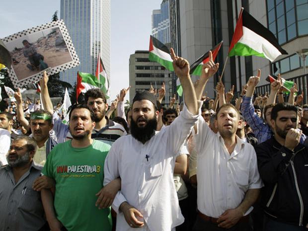 Protests Against Israeli Flotilla Raid