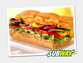 Subway sandwich. (Subway)