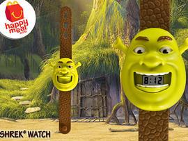 Shrek toys are part of McDonald's Happy Meals.