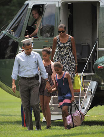 The Obamas in Maine