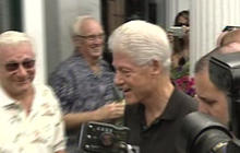 Bill Clinton Swarmed in Rhinebeck, N.Y.