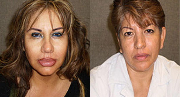 Alejandra Viveros and Guadalupe Viveros, two sisters wanted in connection with silicone implant death in Los Angeles.
