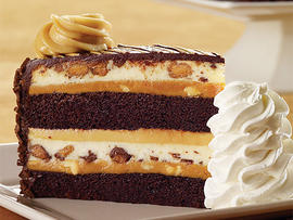 Reese's Peanut Butter Chocolate cheesecake from the Cheesecake Factory.