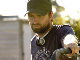 "Director David Michod, on the set of ""Animal Kingdom,"" a film about an Australian crime family."