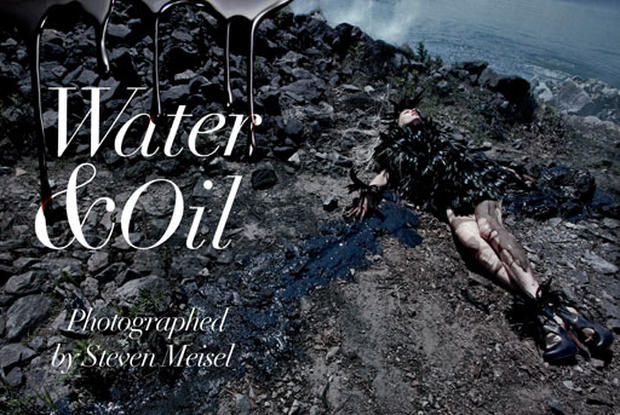 Vogue Italia's Oil-Inspired Fashion Shoot