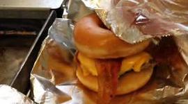 Doughnut burger.