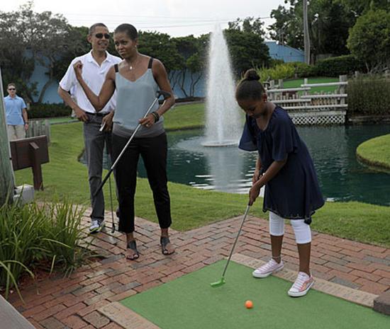 Sasha Obama's summer vacation