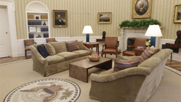 White House Backs King Quote on Oval Office Rug CBS News