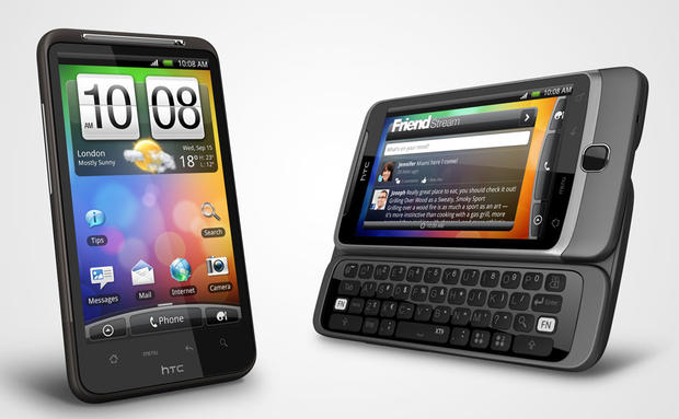 HTC's Desire HD, left, and Z