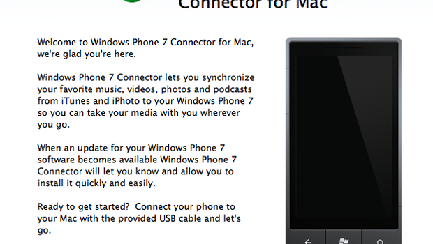 Mac users can now sync their iTunes and iPhoto libraries with Windows Phone 7  <a class='fecha' href=