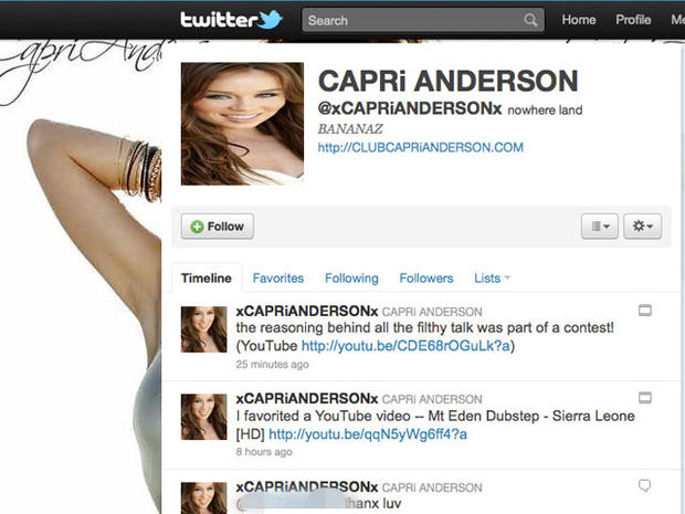 Capri Anderson: Charlie Sheen Accuser