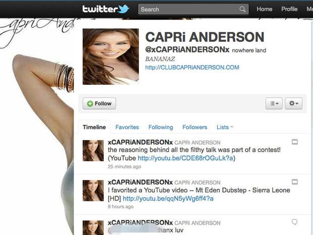 Capri Anderson: Charlie Sheen Scandal