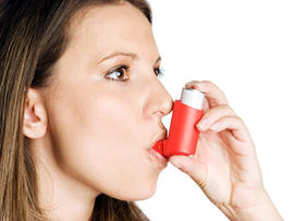 asthma, inhaler, allergies, woman, generic, 4x3