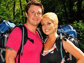 "Chad Waltrip and Stephanie Smith on ""The Amazing Race."" (CBS)"