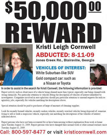 Kristi Cornwell: Remains of Missing Ga. Woman Found