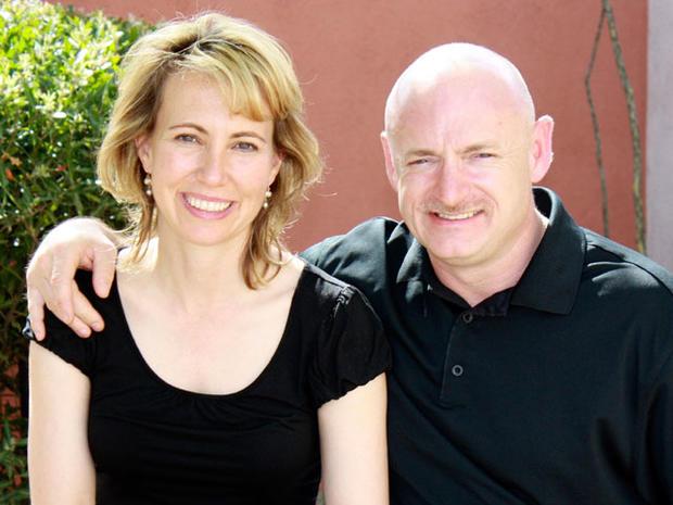 Gabrielle Giffords and husband, Mark Kelly.  (AP)
