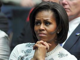 Michelle Obama at the Tuscon memorial service