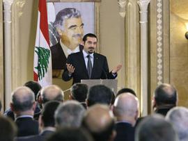 Saad Hariri speak in Beirut