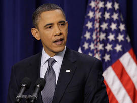 President Barack Obama makes a statement about his budget during a news conference
