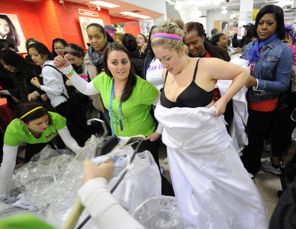 """Running of the Brides"" at Filene's Basement"