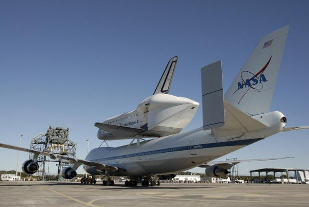 When the space shuttle hitches a ride