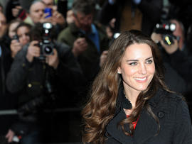 Kate Middleton leaves the New Zealand High Commission in London on Feb. 25, 2011.