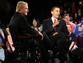 Chris Matthews and Barack Obama