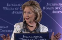 Hillary Clinton celebrates International Women's Day