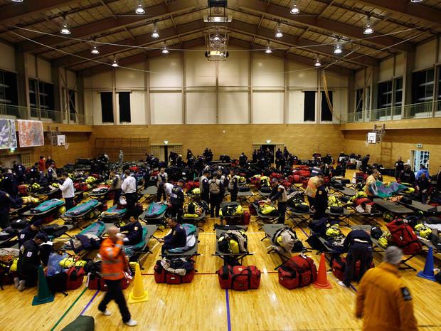U.S. relief crews in Japan