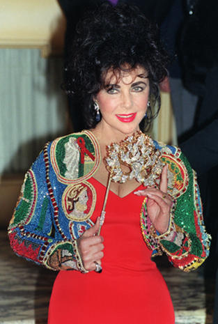 Elizabeth Taylor: AIDS crusader