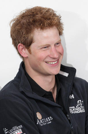 Prince Harry honors wounded servicemen