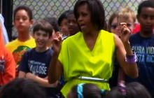 Michelle Obama dances to Beyonce