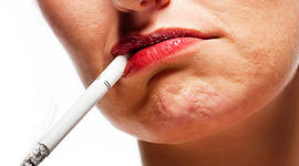 smoking, mouth, lips, woman, old, surly, sullen, attitude, cigarette, stock, 4x3