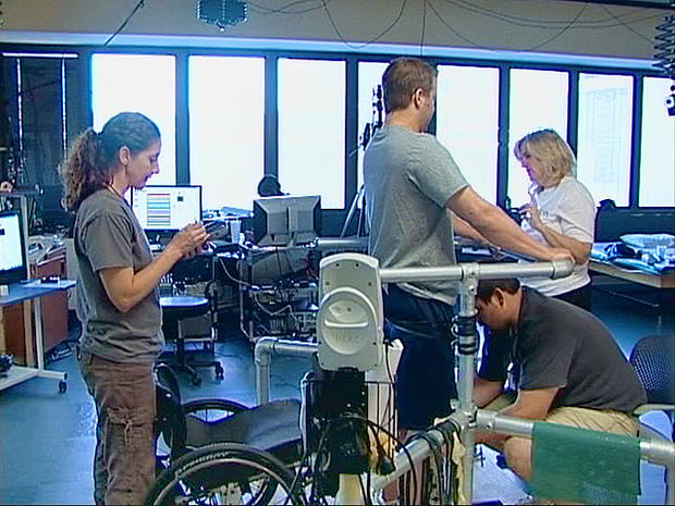 Rob's miracle: Paralyzed man's first steps