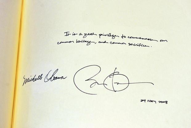 Barack Obama, signature