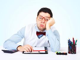 bored, businessman, man, work, desk, glasses, stock, 4x3
