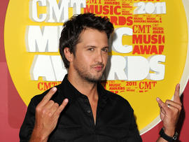 Luke Bryan attends the 2011 CMT Music Awards