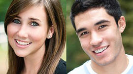 Lauren Astley, left, was found murdered July 4, 2011, in Boston suburb. Nathaniel Fujita, right, has been charged in her death.